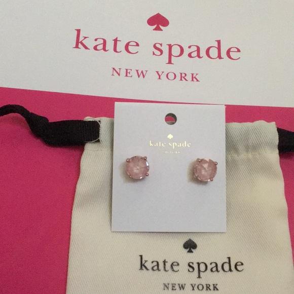 KATE SPADE Gumdrop Stud Round Cut Earrings PINK